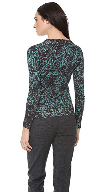Carven Printed Knit Sweater