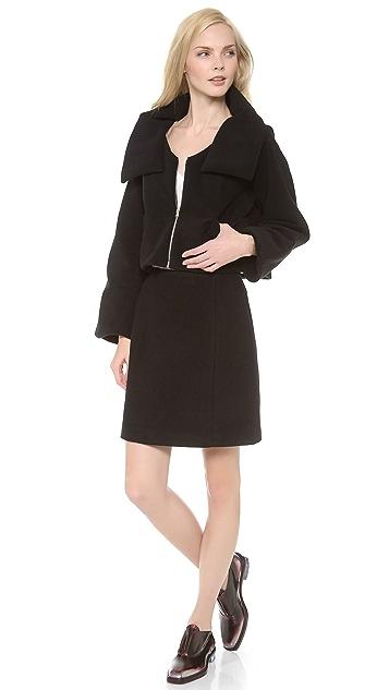 Carven Simple Wool Skirt