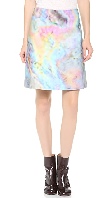 Carven Velour Print Skirt
