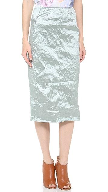 Carven Crinkle Taffeta Skirt
