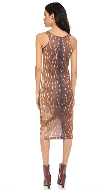 Carven Deer Print Tank Dress
