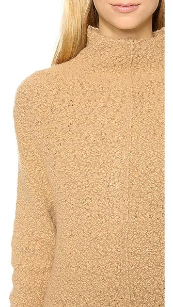 Carven Boucle Mock Neck Tunic Dress