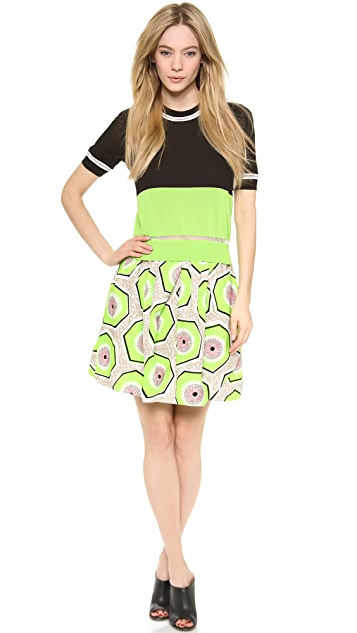 Carven Printed Cotton Skirt