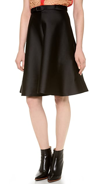 Carven Stitched Twill Skirt