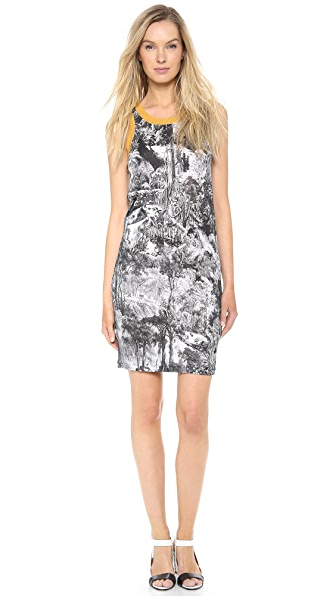 Carven Sleeveless Print Dress