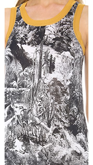 Carven Sleeveless Print Dress
