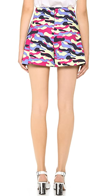 Carven Camouflage Print Shorts