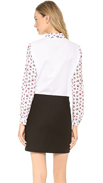 Carven Liberty Print Button Down Shirt