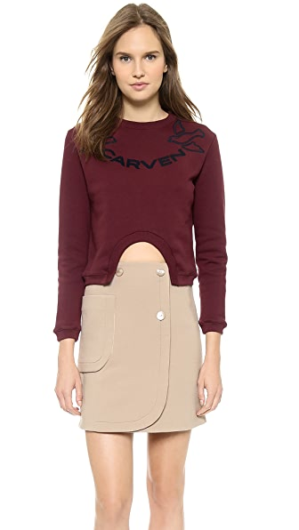Carven Cropped Sweatshirt