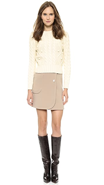 Carven Roped Knit Sweater