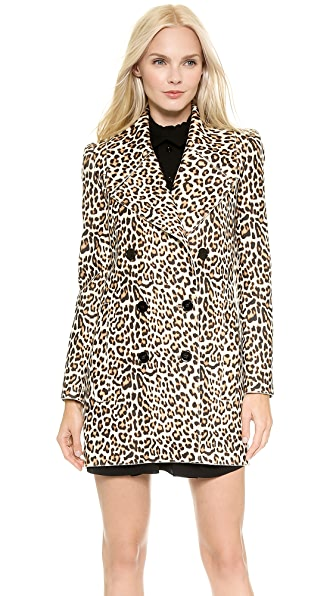 Carven Leopard Coat