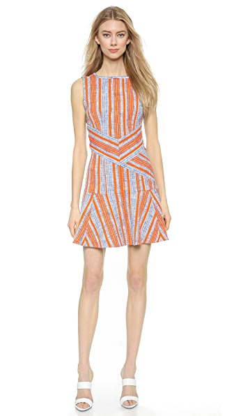 Carven Tweed Back Cutout Dress