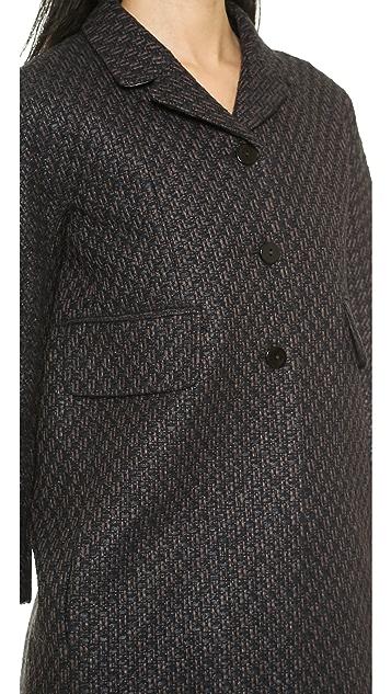 Carven Fancy Tweed Coat