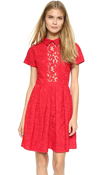 Shop Carven online and buy Carven Lace Dress Rouge online store