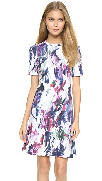 Carven Watercolor Sweatshirt Dress