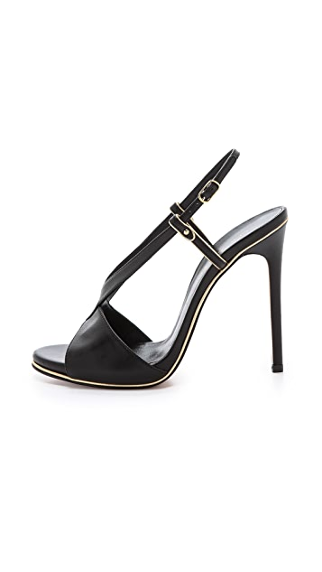Casadei Crossover Peep Toe Sandals