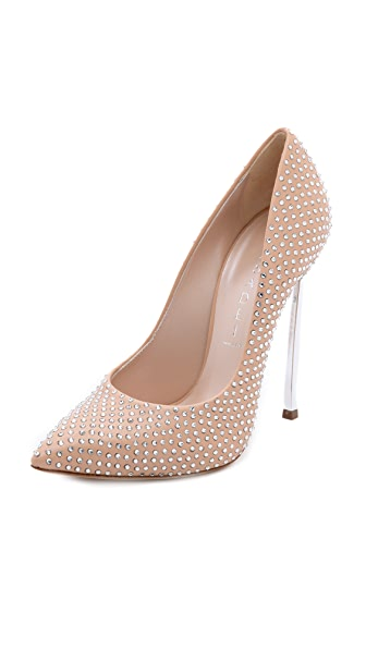 Casadei Crystal Studded Pumps