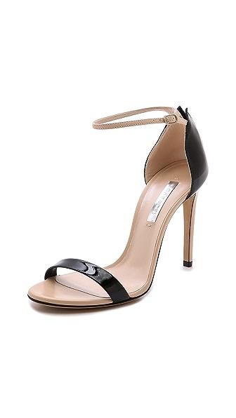 Casadei Split Heel Overlay Sandals