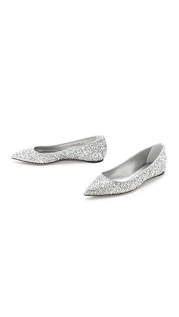 Casadei Glitter Flats