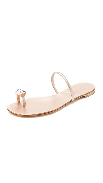 Casadei Metallic Toe Sandals
