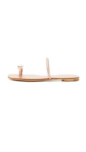Casadei Metallic Toe Sandals