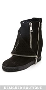 Perforated Double Zip Boots                Casadei