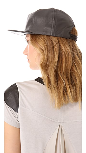 Cast of Vices Leather Baseball Cap