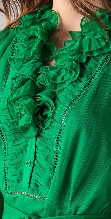 Catherine Malandrino Long Sleeve Dress with Ruffles