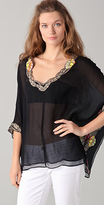 Catherine Malandrino V Neck Blouse