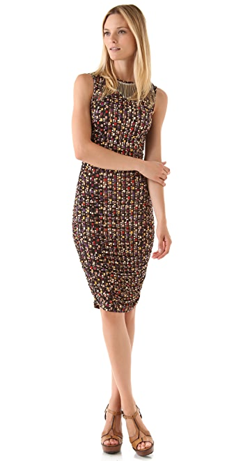 Catherine Malandrino Shirred Sleeveless Dress