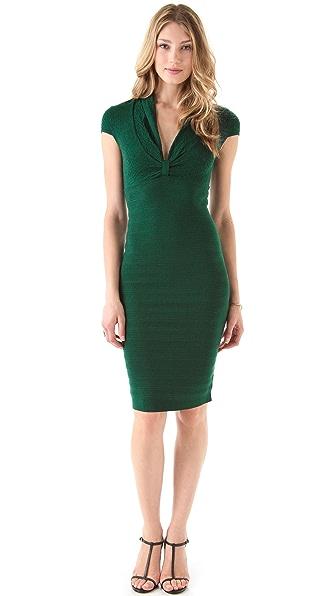 Catherine Malandrino Deep V Pointelle Dress