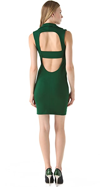 Catherine Malandrino Collar Dress with Open Back