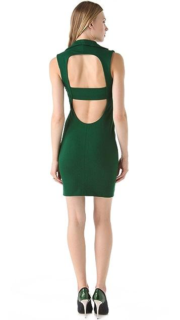 Catherine Malandrino Collar Dress with Open Back