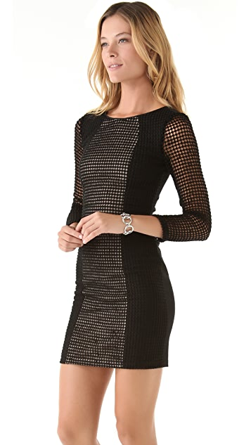 Catherine Malandrino Lace Combo Dress
