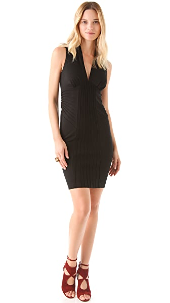Catherine Malandrino V Neck Ponte Dress