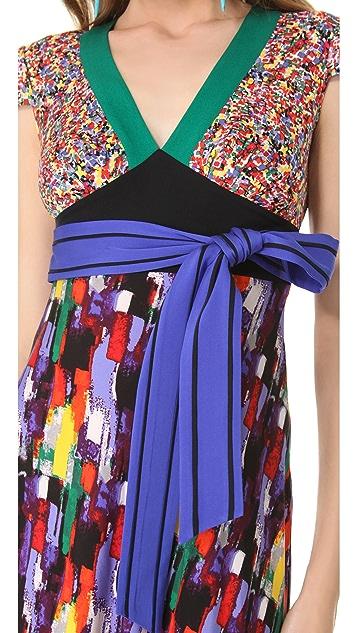 Catherine Malandrino Mixed Media Dress