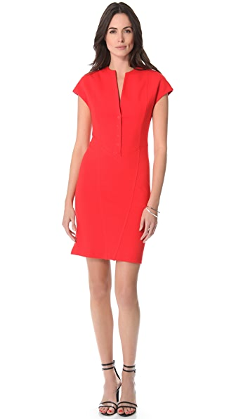 Catherine Malandrino Cap Sleeve Ponte Dress