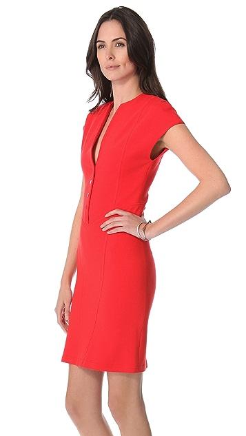 Catherine Malandrino Cap Sleeve Ponte Dress