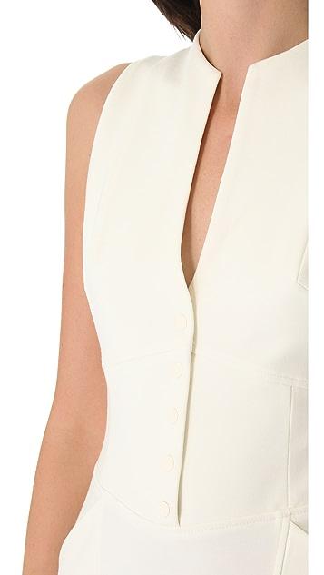 Catherine Malandrino Button Up Sleeveless Dress