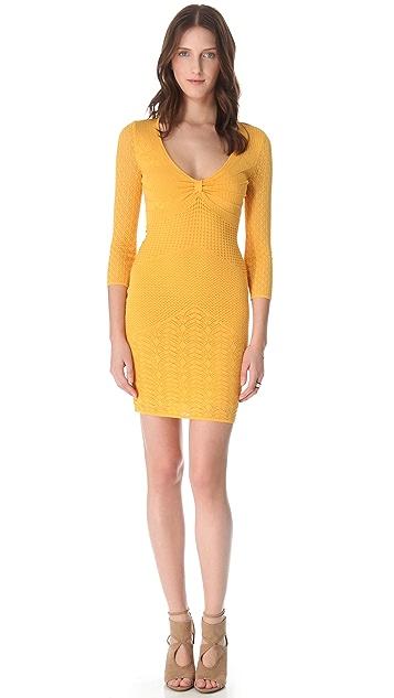 Catherine Malandrino 3/4 Sleeve Pointelle Dress