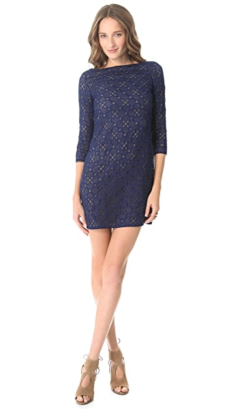 Catherine Malandrino All Over Embroidered Dress