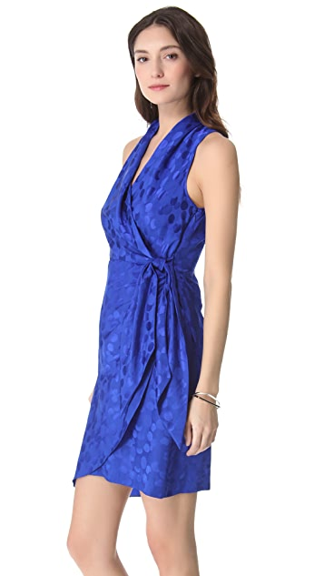 Catherine Malandrino Wrap Mini Dress