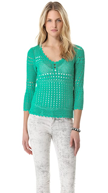Catherine Malandrino Favorite Crochet Top