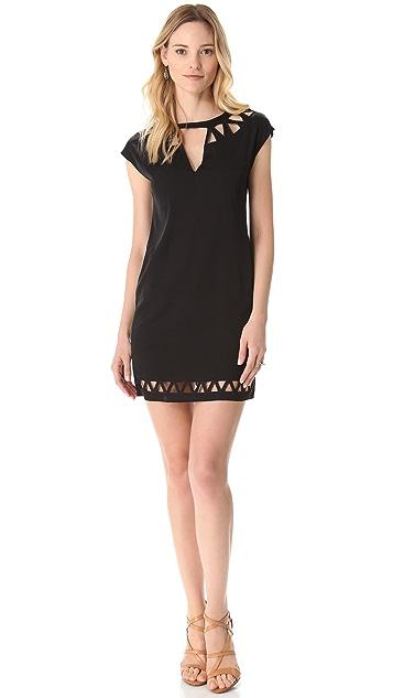 Catherine Malandrino Cap Sleeve Cutout Dress