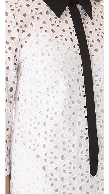 Catherine Malandrino Eyelet Shirtdress