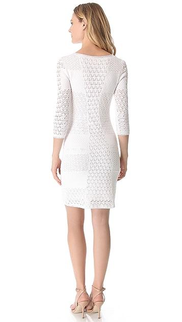 Catherine Malandrino Crochet Scoop Neck Dress