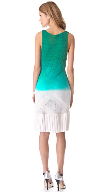 Catherine Malandrino Pointelle Cross Front Dress