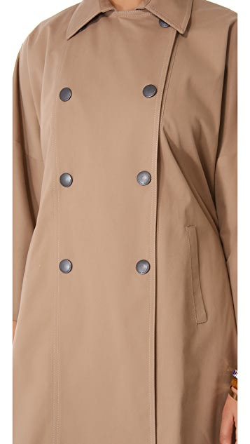 Catherine Malandrino Michelle 3/4 Sleeve Trench Coat