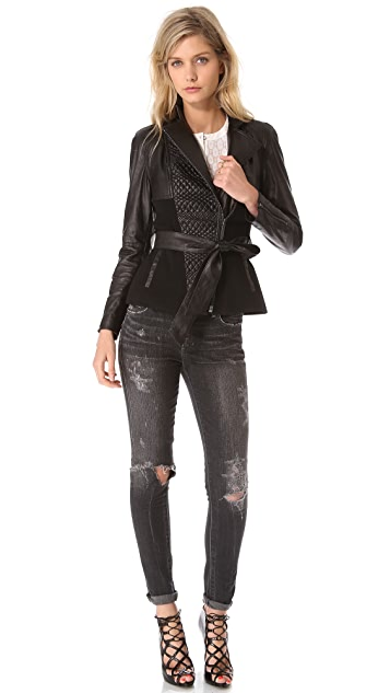Catherine Malandrino Alfreda Quilted Leather Jacket