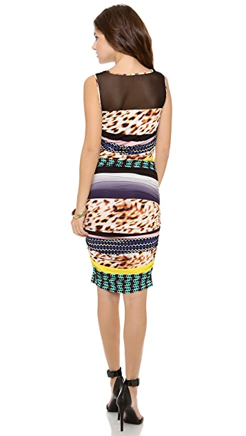 Catherine Malandrino Carmen Print Jersey Dress